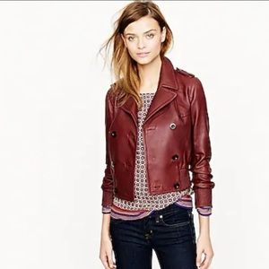 J. Crew Collection Genuine leather bomber jacket